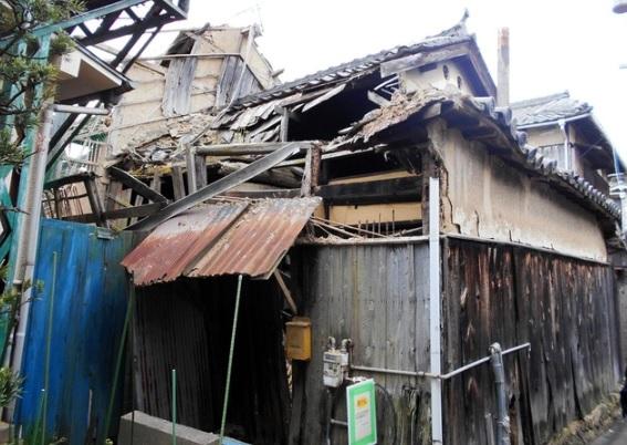 姫路で空き家を行政執行により撤去されることになりました